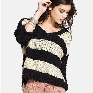 NEW Free People Striped Sweater